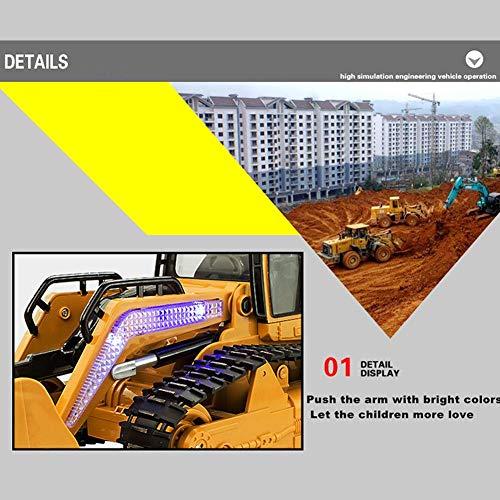 RC Auto kaufen Baufahrzeug Bild 4: 332PageAnn Rc Bagger Spielzeug Radlader Baufahrzeuge, 1:12 Simulationsfahrzeug Mit Sound Und Licht Geburtstagsgeschenk Für Kinder*