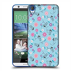 Snoogg Girly bee pattern Designer Protective Back Case Cover For HTC Desire 820