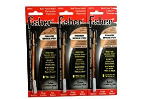 3 Pack Fisher Space Pen Red Ink Refills SPR2 Medium Tip by Fisher Space Pen
