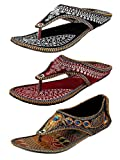 #3: Ziaula Women Ethnic|Traditional|Flat|Slipper Combo of 3|