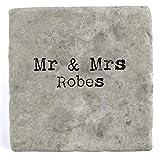 Mr & Mrs Bademäntel–Marble Tile Drink Untersetzer, 10 x 10 cm