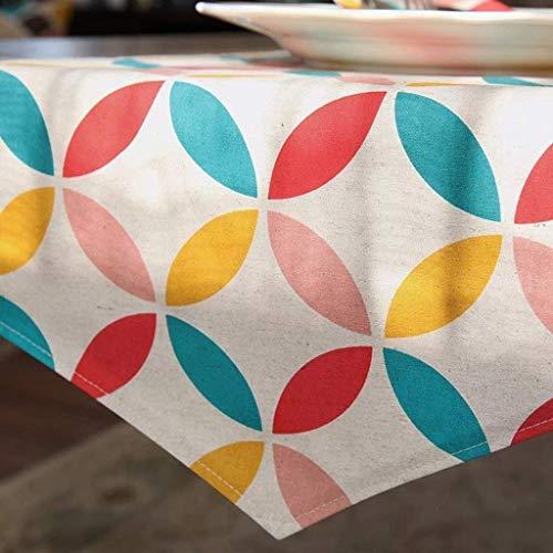 GZ Kurze Farbe Gitter Blumenmuster Tuch Tischläufer Tischdecke Couchtisch Lange Tischdecke Moderne einfache Mode gehobenes Wohnzimmer Küche Restaurant Hotel Heimtextilien,35 * 200 cm
