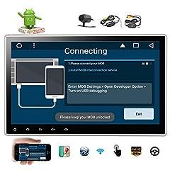 Idea Regalo - Doppio Din 2 Android 7.1 Torrone Sistema 2 GB di RAM Quad Car Stereo di controllo del volante Radiohead unit¨¤ GPS di sostegno 3G / 4G antifurto core fotocamera Bluetooth 1080P Video Wireless Rear 10,1 pollici come regalo