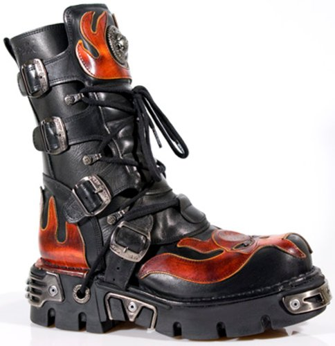 New Rock Boots Unisexe Botte - Style 107 S1 Rouge