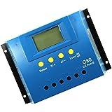 MagiDeal 30/60/80A Regulador Solar de Panel Exhibición de LCD PWM con Control de Contador de Tiempo de Carga - 80A