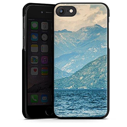 Apple iPhone X Silikon Hülle Case Schutzhülle Berglandschaft Berge See Hard Case schwarz