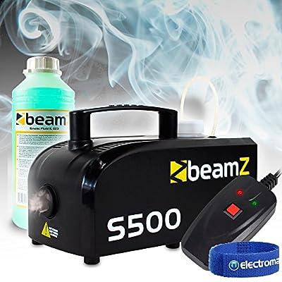 beamz Smoke Machine Fog Mist Haze Hazer Effect, 1L Fluid|DJ Disco Halloween PK1