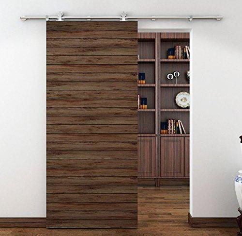 BD-SS02 #in acciaio INOX Sus304, finitura in nichel spazzolato, stile moderno, effetto legno per porta scorrevole Hardware-Binario per la stanza, lavanderia, Master Walk-in bagno, ufficio, armadio, imposte, zone massima