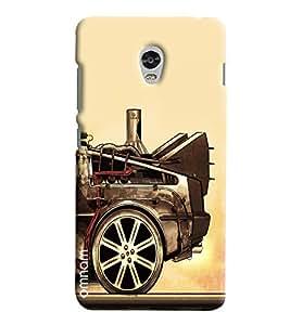 Omnam Car Back Painted Effect Printed Designer Back Cover Case For Lenovo Vibe P1