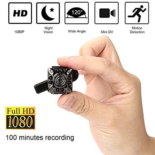 SQ10 1080P Mini Kamera 12.0MP IR Nachtsicht Camcorder Mini DV Kamera Kleine Heimkamera Home Security Überwachungskamera Full HD Mini Videokamera für Home Security Systeme mit Kamera Halter
