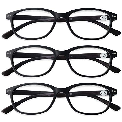 Preisvergleich Produktbild KOOSUFA Lesebrille Herren Damen Federscharnier Lesehilfen Nerdbrille Retro Rechteckig Qualität Vollrandbrille Holzfarbe 1.0 1.5 2.0 2.5 3.0 3.5 4.0 (3x Braune Holzfarbe,  1.0)