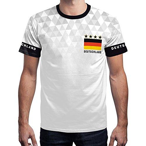 For G and PL WM 2018 2018 Herren Deutschland Fußball Team T-Shirt Party Außen Sport Fan Fußball Trikot Germany Motiv 3 S
