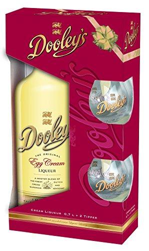 Dooleys Egg Cream Liqueur 17% 0,7l im Geschenkset mit 2 Gläsern PiHaMi®Set