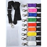 Llaveros con funda de PVC blando con cinta neutra de 20 mm de ancho - formato vertical - cierre de seguridad/inserción (50 unidades) - fucsia
