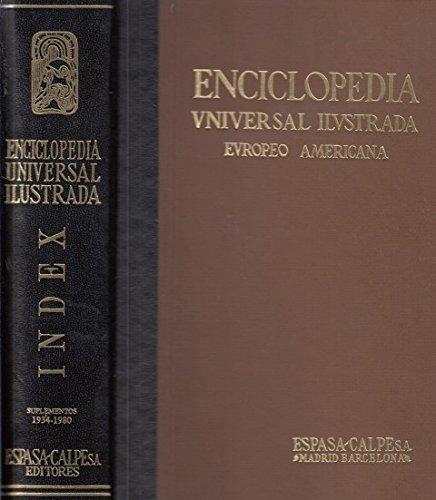ENCICLOPEDIA UNIVERSAL ILUSTRADA EUROPEO-AMERICANA. INDEX. (SUPLEMENTOS 1934-1980)