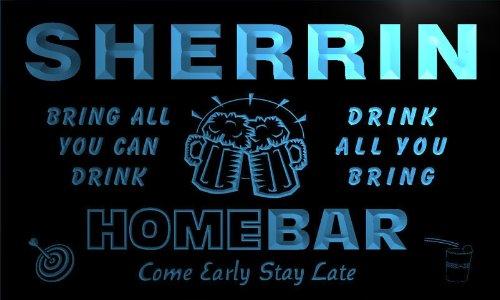 q41067-b-sherrin-family-name-home-bar-beer-mug-cheers-neon-light-sign