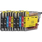 DOREE 10 xl Printer Cartridges Compatible with Brother LC985 LC985BK LC985C LC985M LC985Y