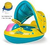 gonfiabili piscina bambini 1-3Anni Gonfiabile Swim Float Swim Rings Parasoli regolabili Anelli per bambini gomma Galleggiante per bambini Piscina Nuoto gonfiabile Piscina per pontile Anello di nuoto Giocattoli galleggianti Sedi di sicurezza per Divertimento Piscina