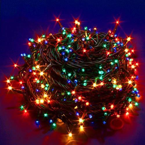 Minilucciola Minilucciole Luci Albero Natale Led 180 Multicolor 8 Funzioni Interno 750434