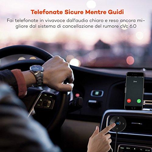 Ricevitore Audio Bluetooth per Auto Junluck Adattatore per Ricevitore Audio Bluetooth Mini Trasmissione Senza Perdita Portatile Nera per TV per Auto