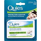 Quies - Protection Auditive Cire Naturelle Longue Durée 27 Décibels - 12 Paires -...