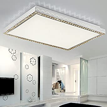 Baredury Led Deckenleuchte Moderne Crystal Wohnzimmer Lampe Rechteckig Kreisfrmig Stimmungsvolle Beleuchtung Kreative Halle