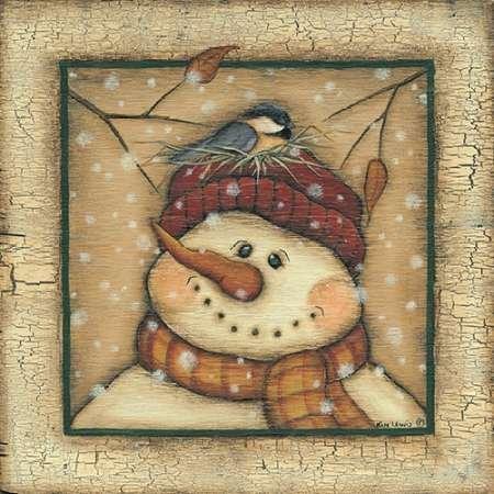 Feeling-at-home-Kunstdruck-Snowman-II-cm60x60-Poster-fuer-Rahmen