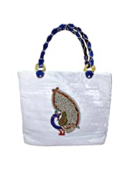 Arisha Kreation Co Women Hand Bag (White)