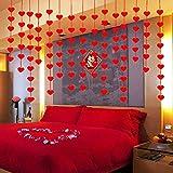 PartyHut Paper Love Heart Shape Garlands, Red