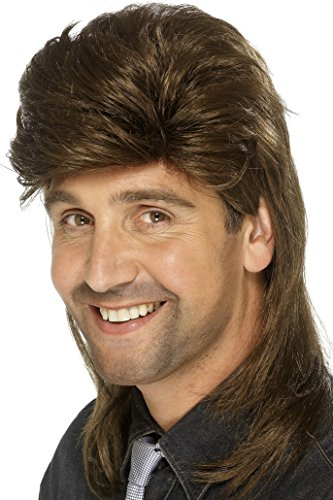 Smiffy's Mullet Wig - Brown or Light