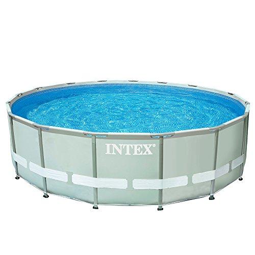 Intex Ultra Frame - Piscina desmontable, 427 x 107 cm, con depuradora y complementos (28310NP)
