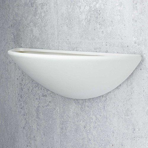 Wandleuchte in Weiß Bauhaus Design 1xE27 bis zu 60 Watt 230V aus Gips/Keramik & Schlafzimmer Küche...