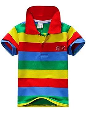 eshoo Niños y Niñas de Manga Corta A Rayas Camiseta Polo Summer 1–7años