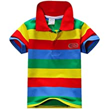 BOBORA Verano Ninos Algodon Ropa Tops t Ninos Manga Corta Camiseta Camisa Rayas