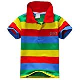 ESHOO Kids Boys Girls Short Sleeve Striped T-Shirt Polo Shirts Summer