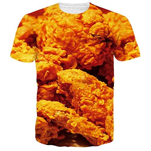Leapparel Unisex Lustige Lebensmittel Gebratene HüHnerbein Druck Stylische T-Shirts Kleider (Lustig Kleid)