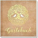 Sophies Kartenwelt Gästebuch Hochzeit - Goldfoliengeprägtes Hardcover/144 Weiße Seiten/Format: 21 x 21 cm/Hochzeitsgästebuch/Hochzeitsalbum/Hochzeitsgeschenk