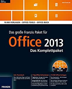 das gro e franzis paket office 2013 das komplettpaket. Black Bedroom Furniture Sets. Home Design Ideas