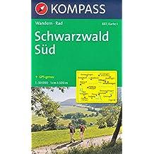Schwarzwald sud, set de 2 cartes, Randonnée à vélo & Carte 1:50.000 KOMPASS N ° 887