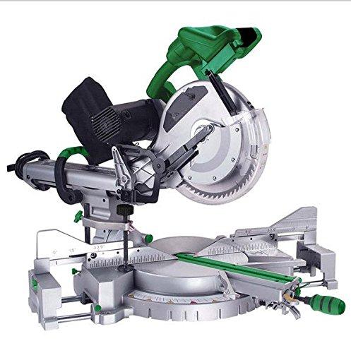 Gowe 12Inch Doppia Inclinazione scorrevole Troncatrice Sega in alluminio, 305mm & 305mm, per macchina troncatrice sega elettrica 1800W