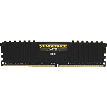 Corsair Vengeance LPX Memorie per Desktop a Elevate Prestazioni, 32 GB (2 X 16 GB), DDR4, 3000 MHz, C15 XMP 2.0, Nero