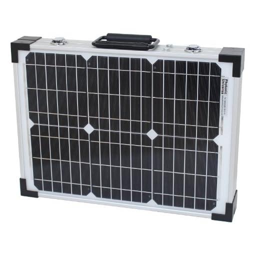 40W 12V Photonic Universe kit ricarica solare pieghevole per un camper, roulotte, camper, auto, camper, barca, yacht–ideale per campeggio, roulotte, camper, manifestazioni, fiere, mobile uffici o qualsiasi altro off-grid 12V System (40Watt 12Volt)