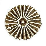 Blocco di stampa intagliato a mano in legno timbro tessile disegno floreale decorativo blocco