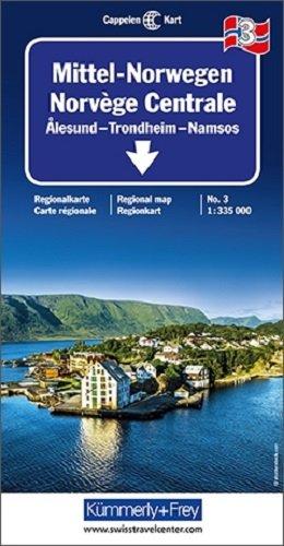 Kümmerly & Frey Karten, Mittel-Norwegen 3. Alesund, Trondheim, Namsos