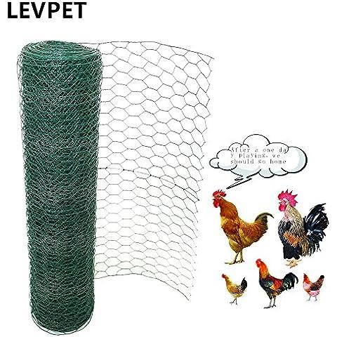 levpet Verde esagonale rivestito in PVC Pollo cavo di rete