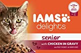 Iams Delights Cat Pouch Senior Chicken In Gravy 85g (Pack of 24)