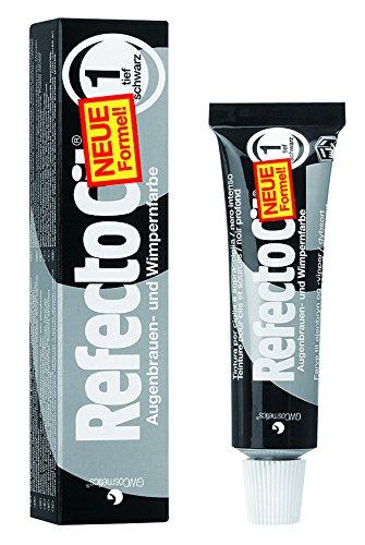 RefectoCil® Wimpernfarbe Augenbrauen, Färbemittel 1 Tiefschwarz 15 ml