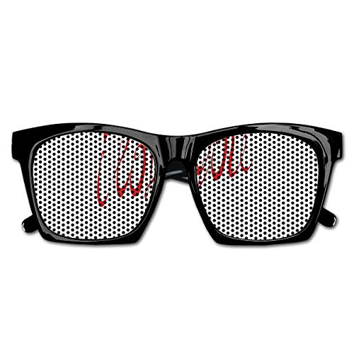 EELKKO Mesh Sunglasses Sports Polarized, Swirling Letter Fonts Valentines Heart Shaped Dots Calligraphy Illustration,Fun Props Party Favors Gift Unisex