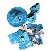 Build Your Bears Wardrobe Teddy Bear Clothes fits Build a Bear Teddies Raincoat (blue)