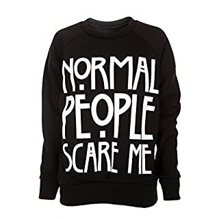 Normal People Scare Me American Horror Story Slogan Women's Sweatshirt Black S/M